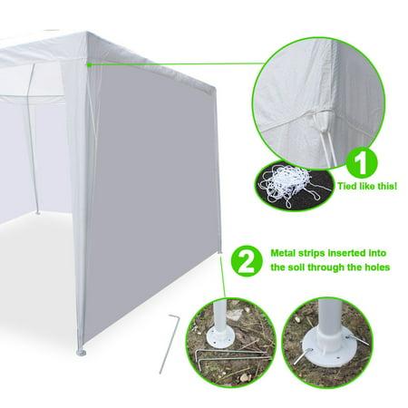 Ktaxon 10' x 30' Party Tent Wedding Canopy Gazebo Wedding Tent Pavilion w/ 5 Side Walls