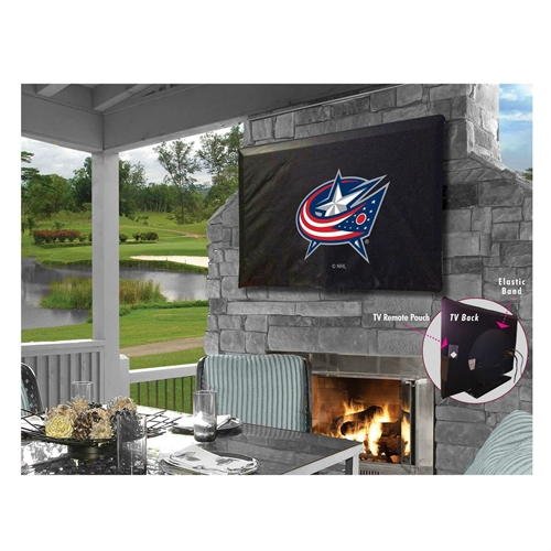 NHL TV Cover by Holland Bar Stool, 50''-56'' - Columbus Blue Jackets