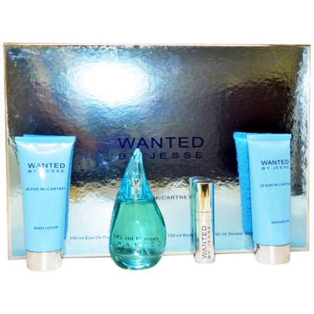 Wanted by Jesse McCartney for Women Gift Set, 4 pc