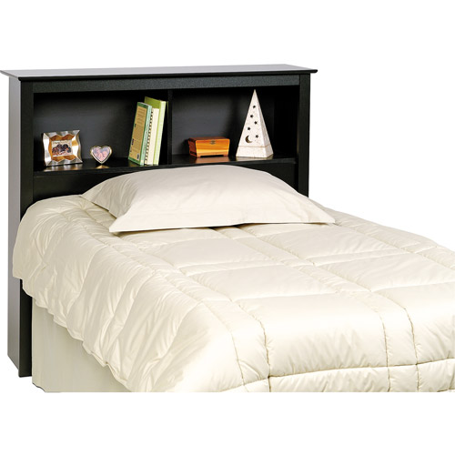 Brisbane Twin Storage Headboard, Black by