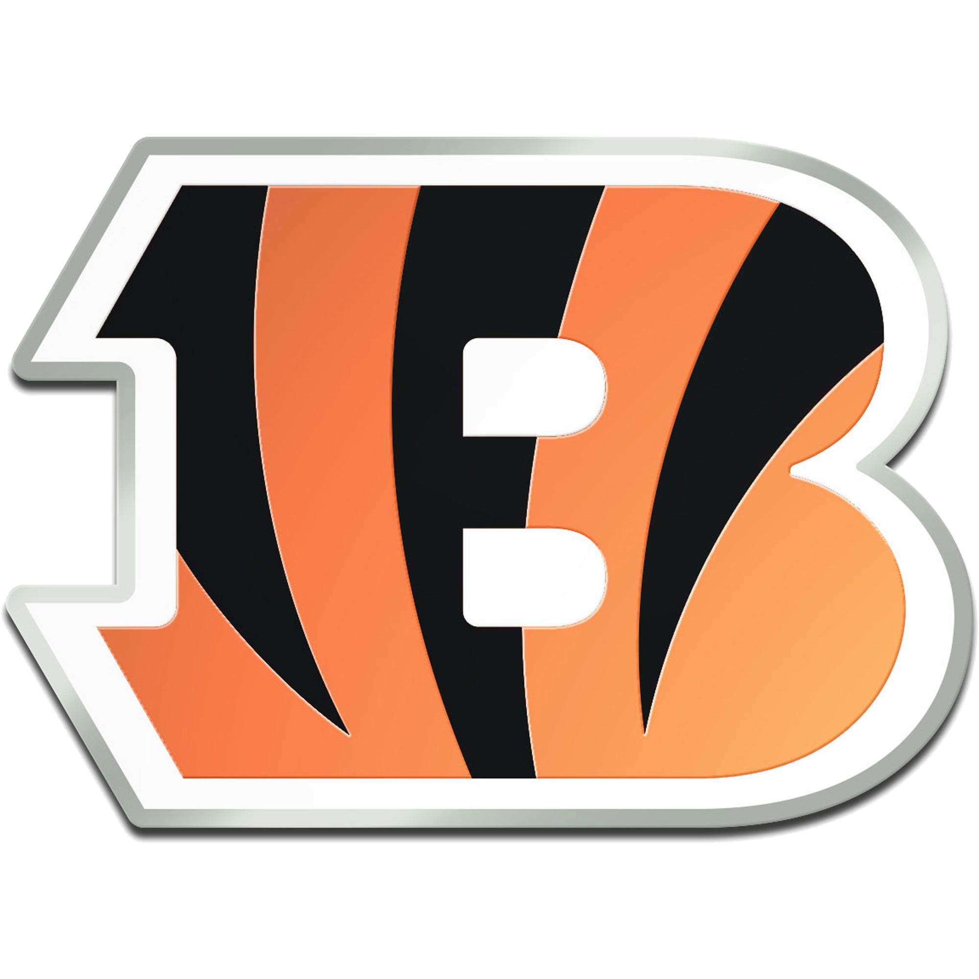Cincinnati Bengals Metallic Freeform Logo Auto Emblem - No Size