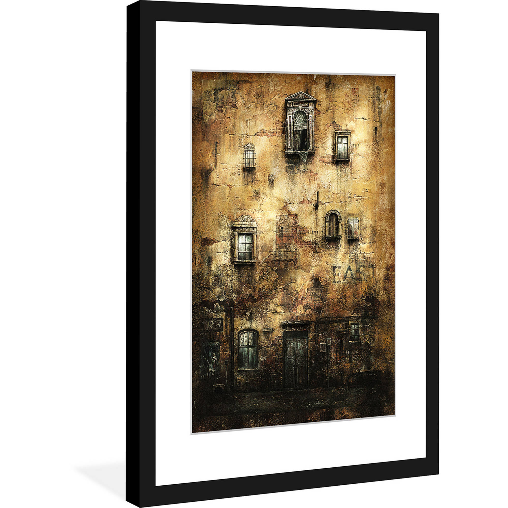 "Marmont Hill ""Old Wall"" Surreal Artists Mixed Media Framed Art Print"