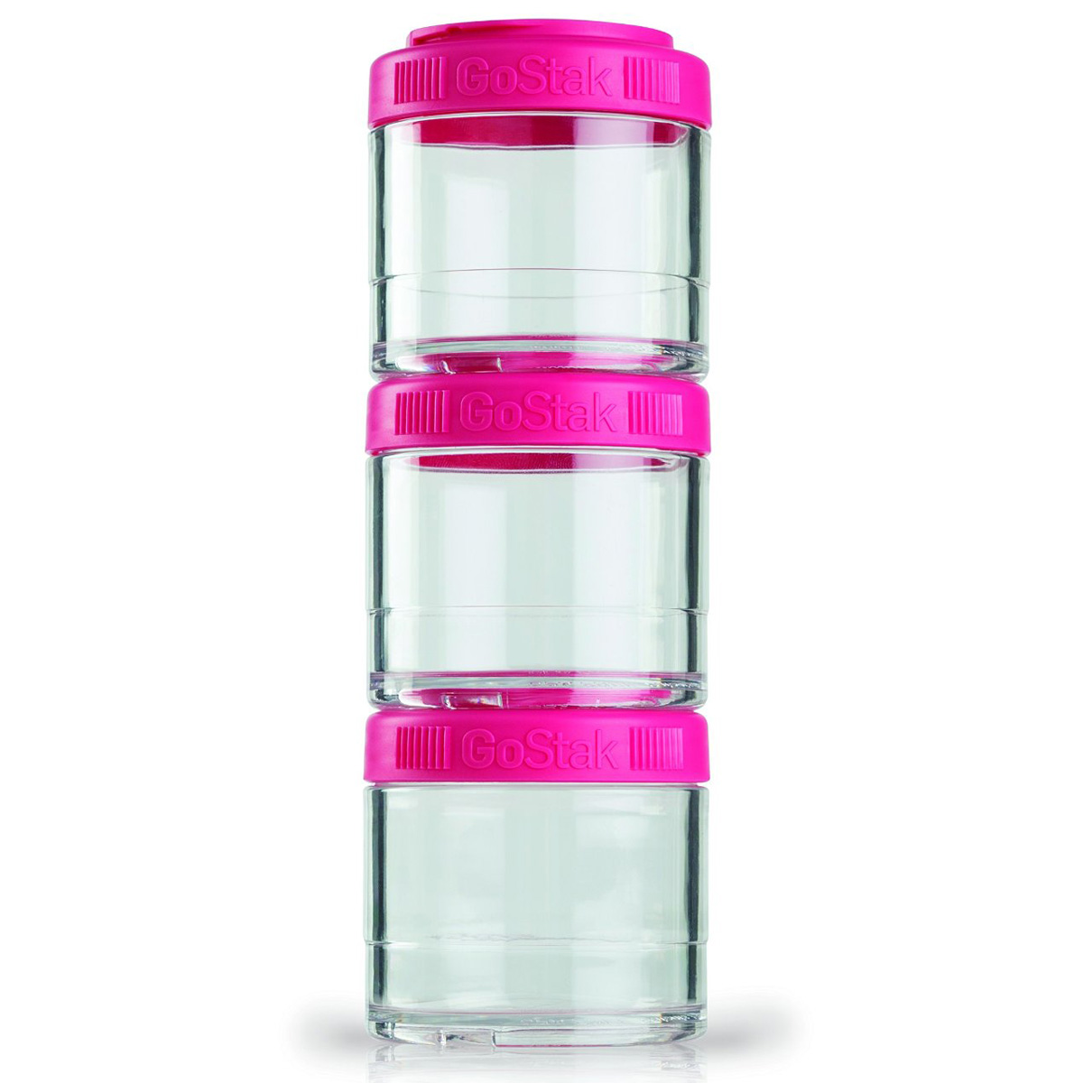 Blender Bottle GoStak 100cc 3Pak Twist n' Lock Storage Jars by Blender Bottle