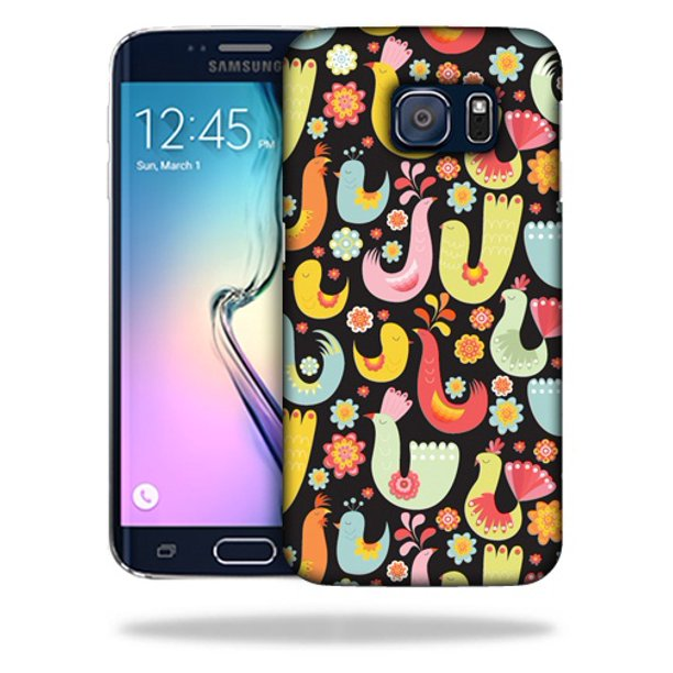 MightySkins Snap-On Protective Hard Case Cover for Samsung Galaxy S6 Edge Black Birdie