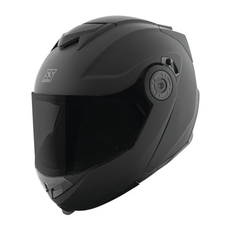 Speed & Strength SS1710 Solid Modular Motorcycle Helmet Matte Black