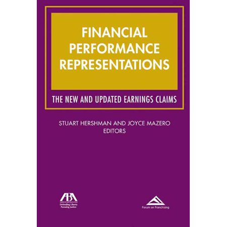 Financial Performance Representations  The New And Updated Earnings Claims