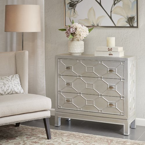 Everly Quinn Andrus 3 Drawer Accent Chest