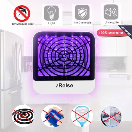 Powerful Mosquito Killer Lamp, Electric Bug Fly Zapper Indoor Insect Killer UV LED Light Trap Efficient Mosquito Catcher Non-Toxic Noiseless No Radiation Pest Control- Home Living Room Bedroom