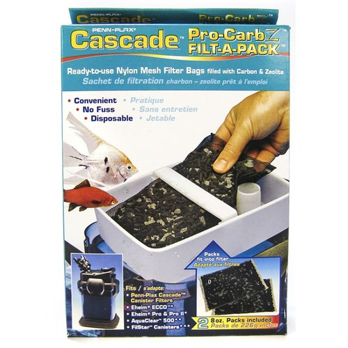 Cascade Pro-Carb Z Filta-A-Pack Nylon Mesh Filter Bags with Carbon & Zeolite BULK - 12 Bags - (6 x 2 Pack)