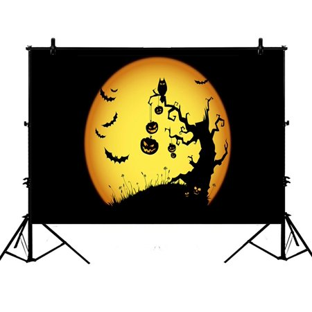 ZKGK 7x5ft Happy Halloween Polyester Photography Backdrop For Studio Prop Photo Background](Happy Halloween Backgrounds 2017)