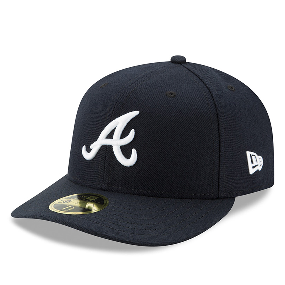 Atlanta Braves New Era Road Authentic Collection On-Field Low Profile 59FIFTY Fitted Hat - Navy
