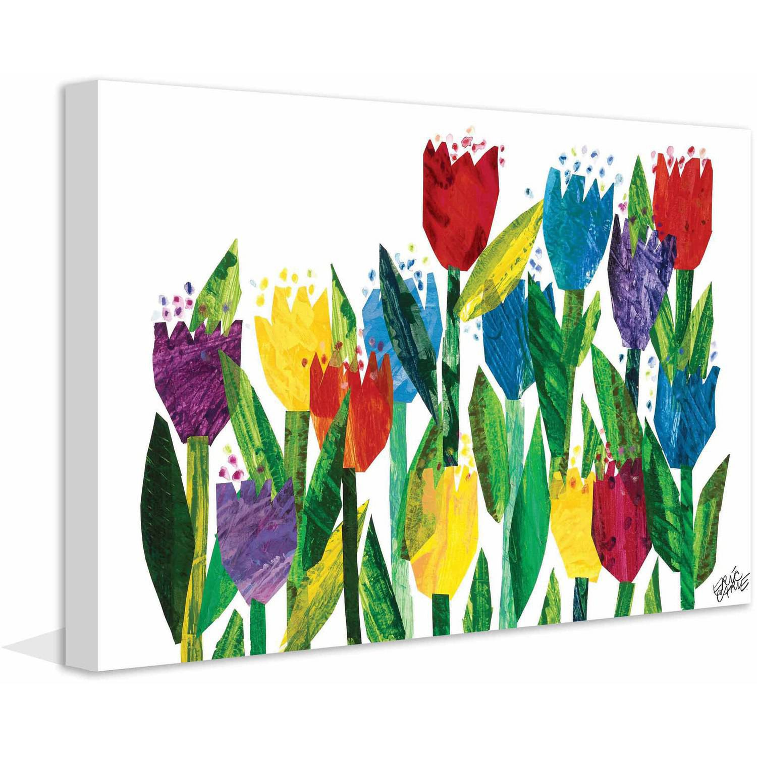 Eric Carle Tulips Art Print on Premium Canvas