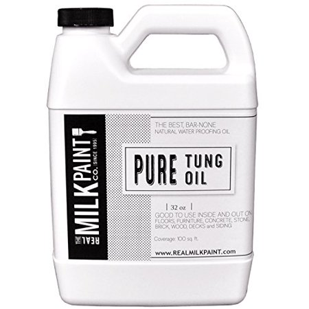 Pure Tung Oil 32oz Forms Flexible Waterproof Finish Zero VOCs