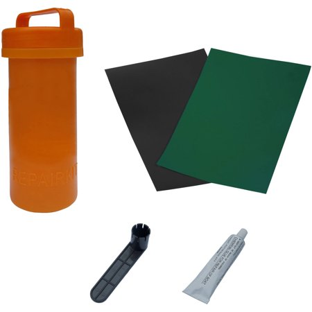 ALEKO Complete Essentials Repair Kit for Inflatable Boat - Dark Green - Wood Boat Kits