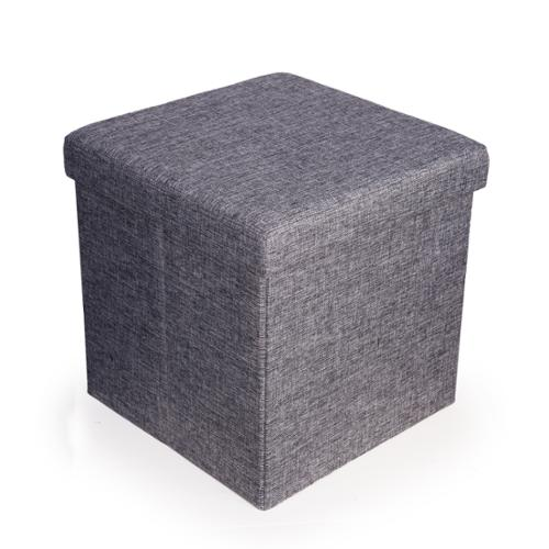 Danya B. Folding Storage Ottoman - Grey Canvas