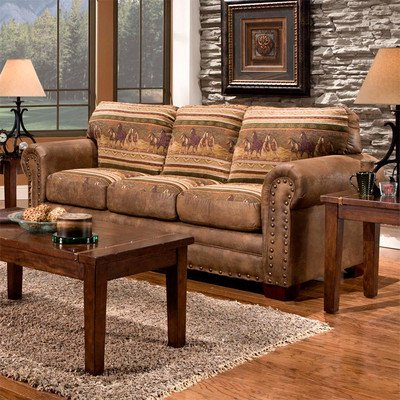 Bundle 06 American Furniture Classics Wild Horses Lodge Living Room Collection 3 Pieces