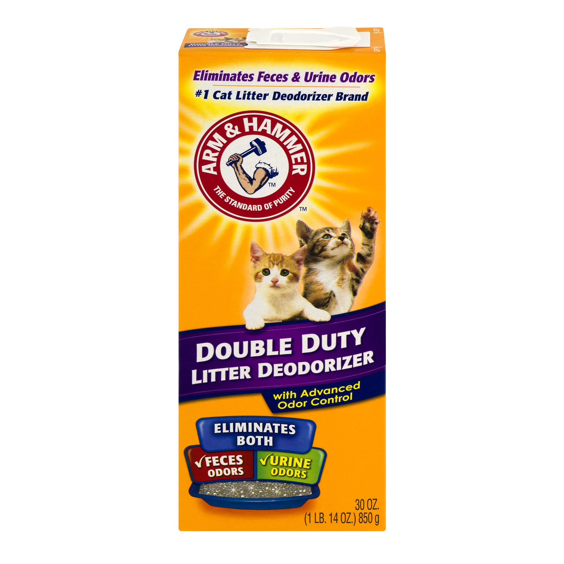 Arm & Hammer Double Duty Cat Litter Deodorizer With Advanced Odor Control, 30.0 Oz