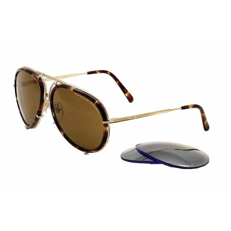 Porsche Design P8613 Aviator Unisex Sunglasses - (2 pairs of lenses included) (Porsche Design Eyewear)