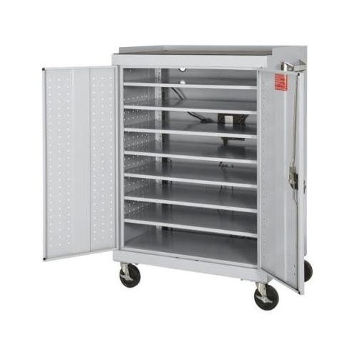 Mobile Laptop Security Cabinet Dove Gray with Electronic Chargin System Dove ...