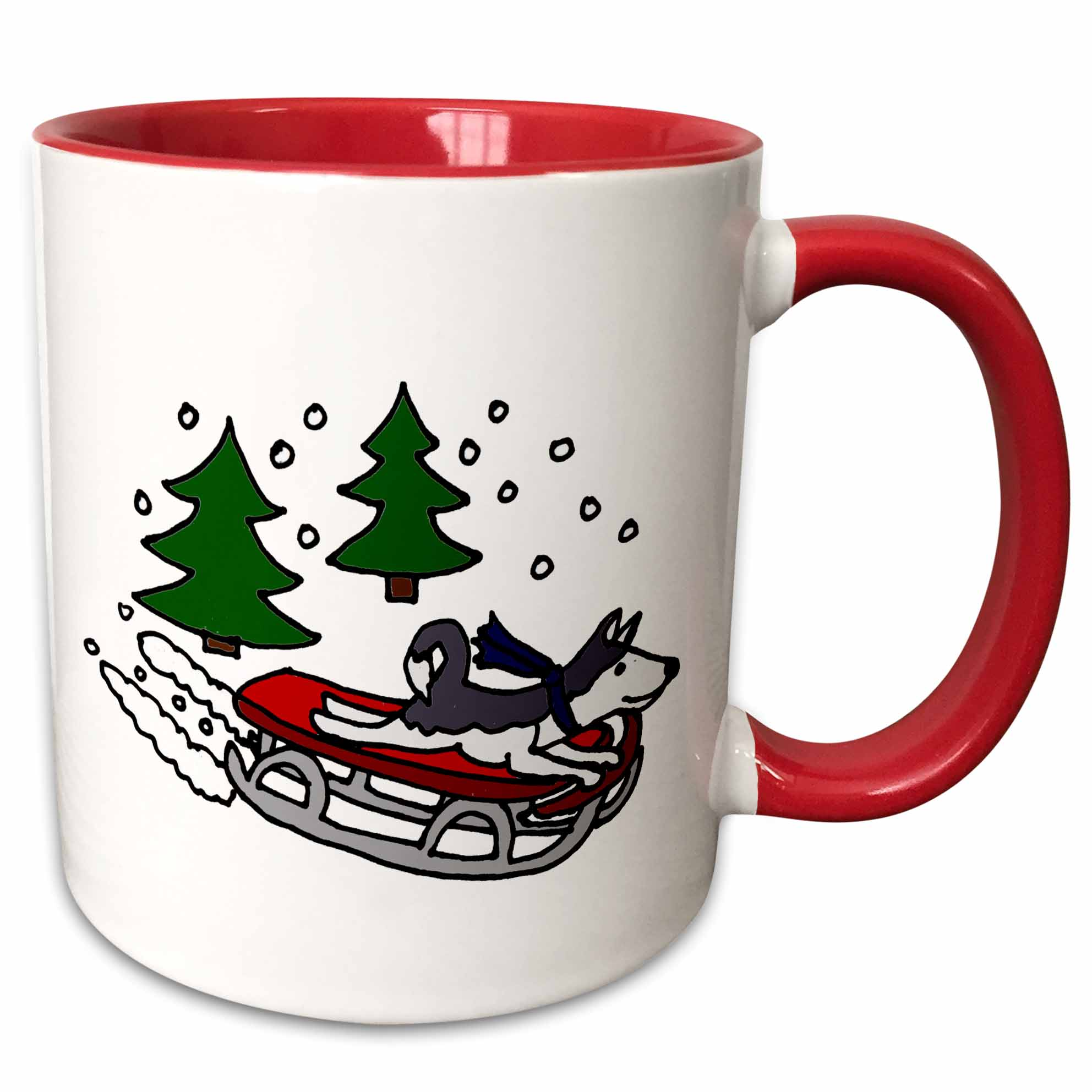 11 Ounce 3drose Snowmobile Rider Merry Christmas Ceramic Mug Home Kitchen Dining Entertaining