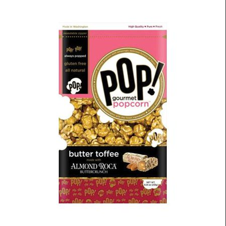 Butter Toffee with Almond Roca Popcorn bag 8.25 oz : 12 Count ...
