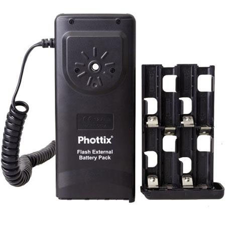Phottix Flash External Battery Pack for Nikon, Uses 8 AA Batteries