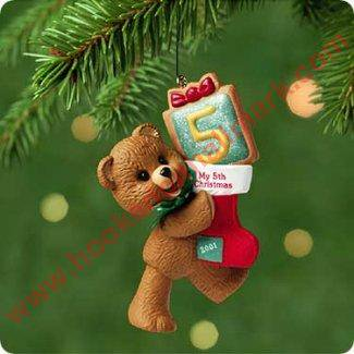 Hallmark Ornament 2001 Childs Fifth (Hallmark Childs Fifth Christmas Ornament)