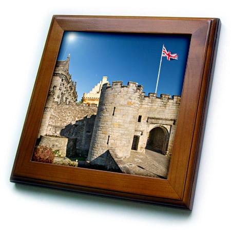 3dRose Entrance to Stirling Castle, Stirling, Scotland - Framed Tile, 6 by 6-inch (Stirling Room Halloween)