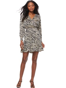 Scoop Wrap Dress with Ruffle Women's