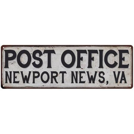 Newport News, Va Post Office Personalized Metal Sign Vintage 6x18 106180011122](Party City Newport News Va)