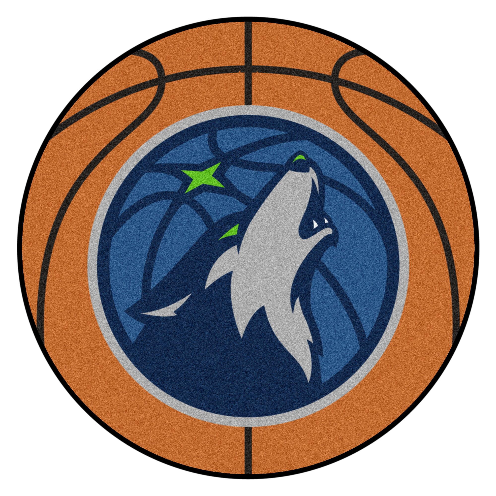 NBA Minnesota Timberwolves Basketball Shaped Mat Area Rug