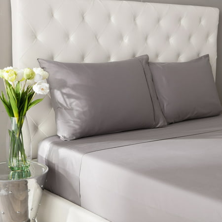 "Image of Rizzy Home HT0004 3 pc 400 TC cotton with a 4"" double hem stitch sheet Set"