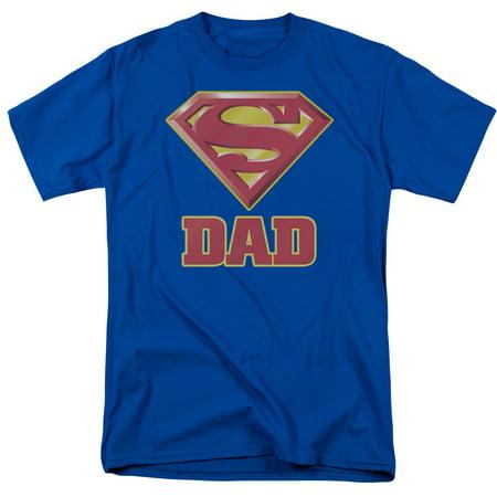 Superman Men's  Super Dad T-shirt Blue