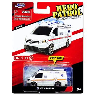 red Jada Hero Patrol Lights /& Sounds VW Crafter