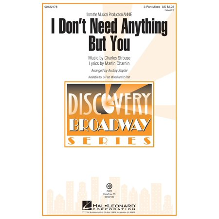 Hal Leonard I Don't Need Anything But You (from Annie) Discovery Level 2 VoiceTrax CD Arranged by Audrey Snyder ()