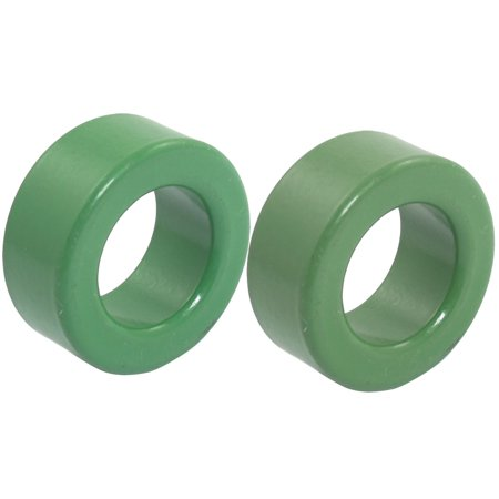 20mm Inner Diameter Green Iron Power Ferrite Toroid Core 2 Pcs