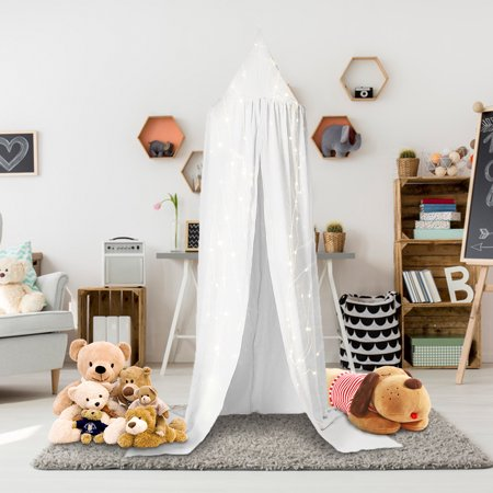 Mosquito Net Canopy, Dome Princess Kids Play Tent Hanging House Decoration Reading Games House Decoration Cotton Cloth Tents](Tent Decorations)