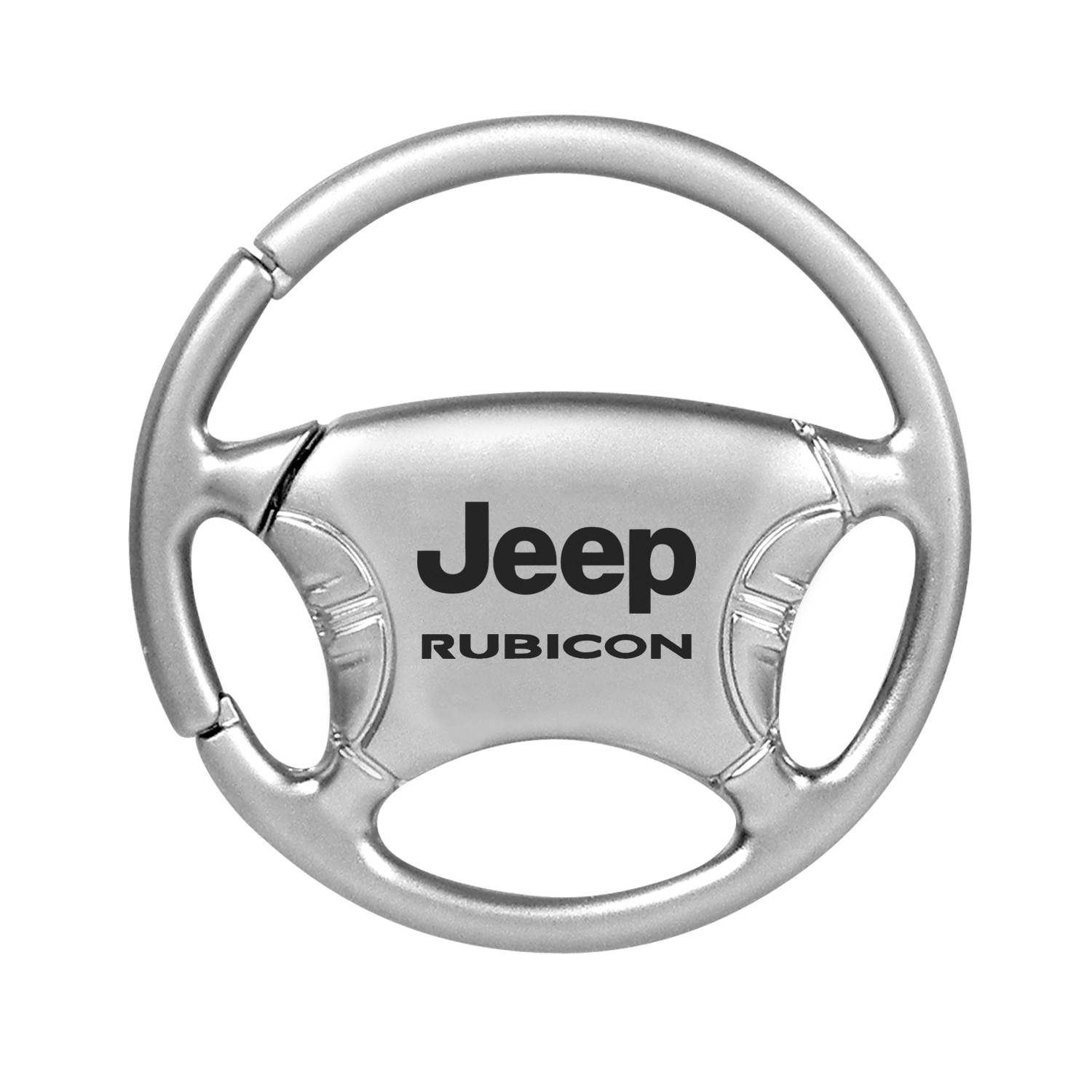 Jeep Rubicon Silver Steering Wheel Key Chain