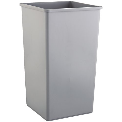 Rubbermaid Commercial Untouchable Waste Container, 50 gallon, Gray