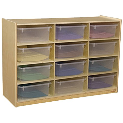 Wood Designs 990315CT Cubby Shelves with Translucent Trays