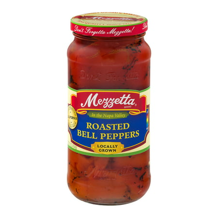 (6 Pack) Mezzetta Roasted Bell Peppers, 16 Oz (Mushroom Roasted Peppers)