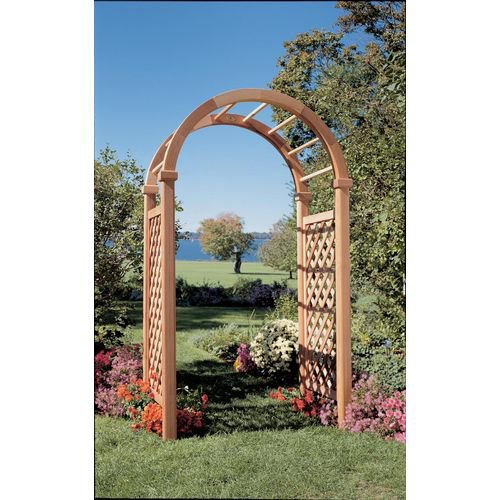 Rustic Natural Cedar Furniture Deluxe 8-ft. Cedar Arch Arbor
