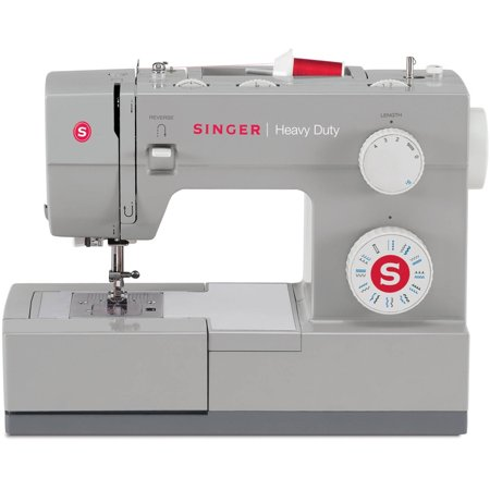 Singer Heavy Duty 4423 Sewing Machine with 23 Built-In Stitches, 60% Stronger Motor & Automatic Needle Threader, Perfect for Sewing all Types of Fabrics with Ease, Even