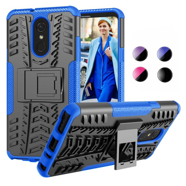 "for 6.2"" 2018 LG Stylo 4 / Stylus 4 / Q Stylo / Q Stylus / Stylo 4 Plus / Stylus 4 Plus Case Kickstand, Njjex [Ocen Blue] [Kickstand][Non-slip] Hybrid Full-body Rugged ShockProof Protection Cover Case"