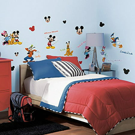 RoomMates Peel and Stick Decor Wall Decals Mickey and Friends 30 (Friends 3 Piece Wall Decor)