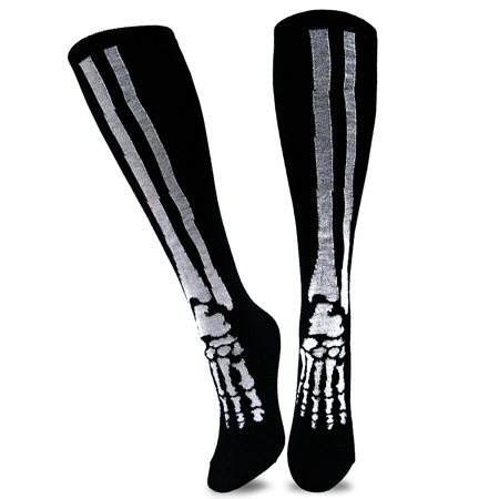 TeeHee Novelty Young Men Halloween Skelton Fun Knee High Socks (Knee High) - Halloween Crossfit Socks