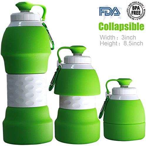 Pack de 4 Bonetech Pliable Bouteille d/'eau