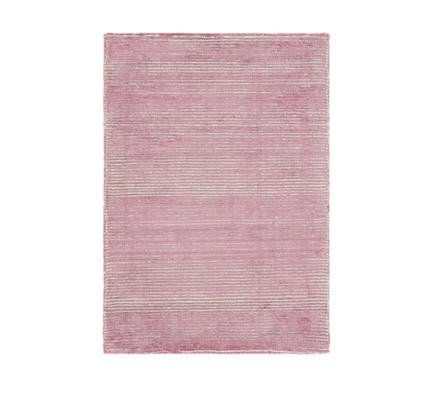 5' x 7.5'  Faded Comfort Dusty Rose and Lion Brown Hand L...