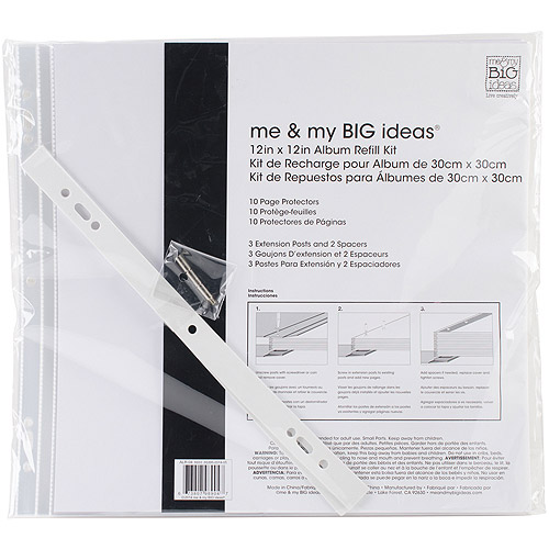 "Me and My Big Ideas Page Protectors, 12"" x 12"" 10pk, 1 12"" x 12"" Pocket"