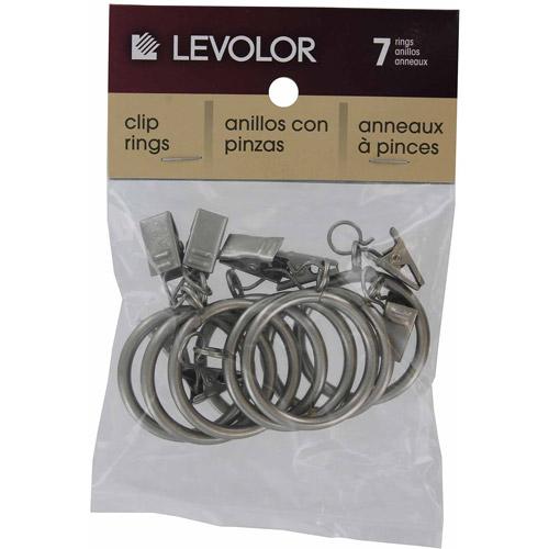 Levolor-kirsch A58720012 Satin Nickel Clip Rings 7-Count